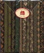 Fabric Packs 9 X 22  Green