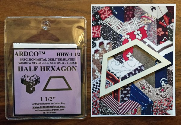 Half Hexagon 1 1/2  inch