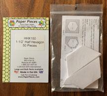 1 1/2 Inch Half Hexagon Paper Pieces