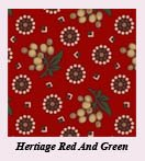 Heritage Red And Green Fat Quarter Bundle (1 left)