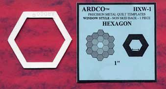 Hexagon 1 inch Template