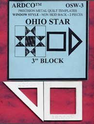 Ohio Star 3 Inch Template