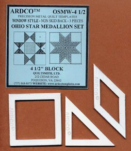 Ohio Star Medallion Template 4 1/2 inch