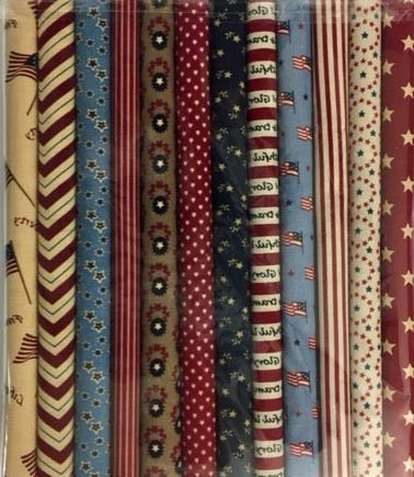 Fabric Packs 9 X 22 Patriotic