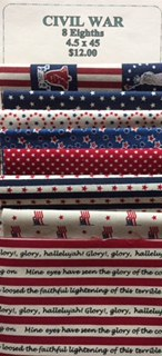 Fabric Strips 4 1/2 X 45 Patriotic