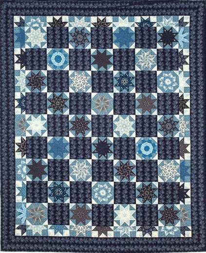 Sturbridge Stars Blue Quilt 56 X 70