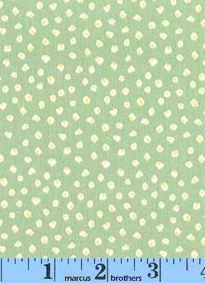 Aunt Grace Annie & Gracie 2004 dress print green (fat quarter)