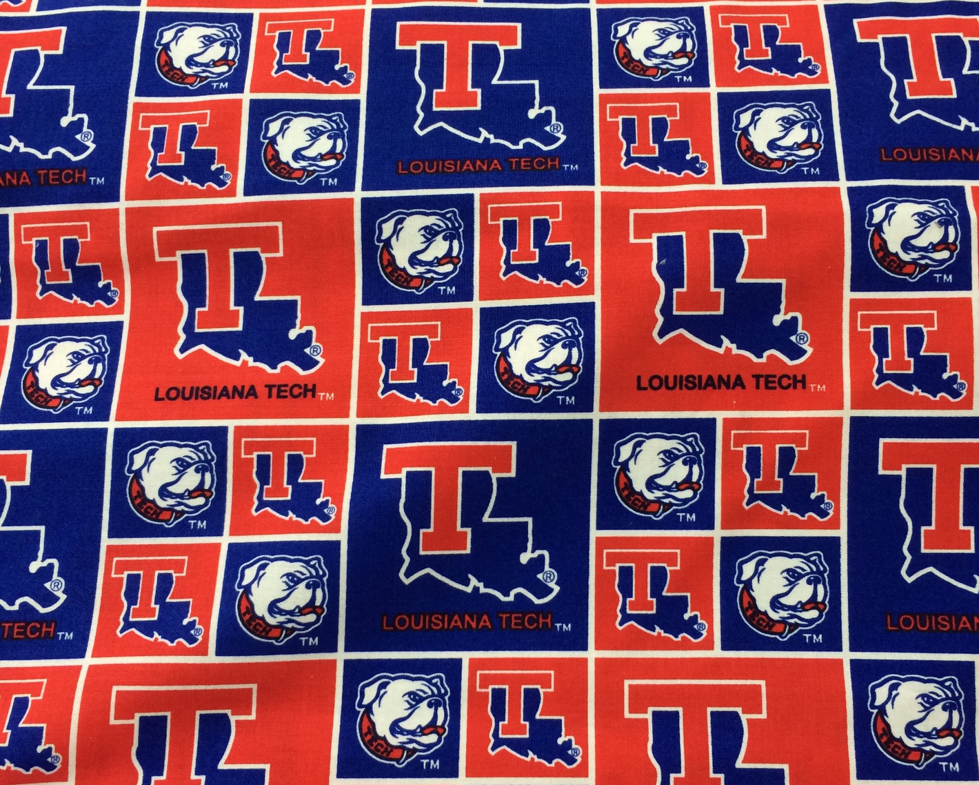 La Tech University Cotton Fabric - out of stock