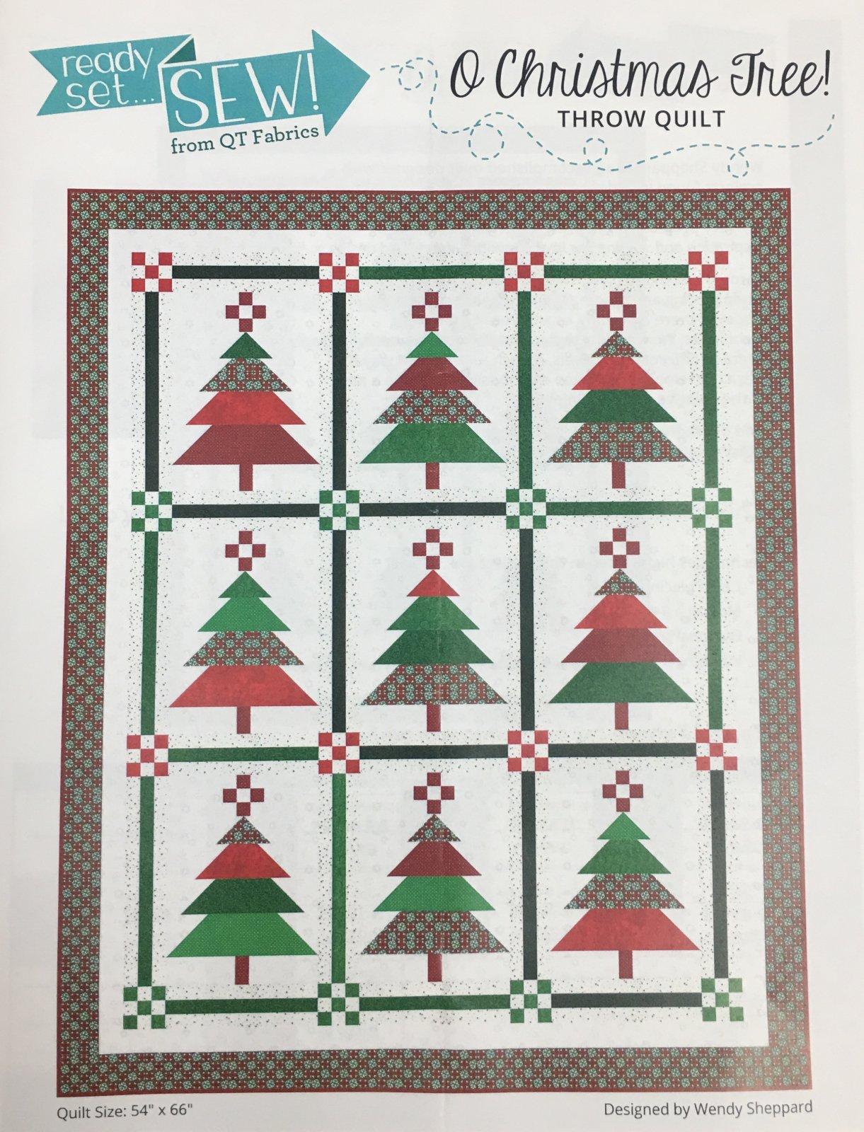 O Christmas Tree! Throw Quilt Kit