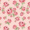 Dots & Posies Prize Roses Blush Fabric by Poppie Cotton