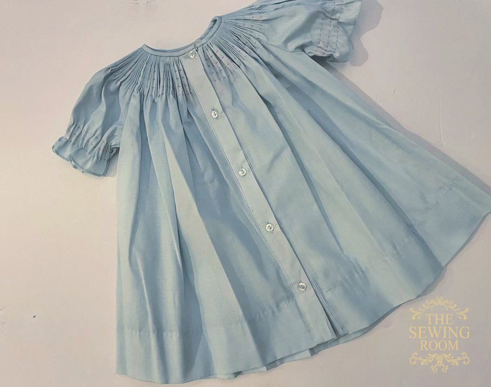 Rosalina Ready to Smock Daygown - Blue