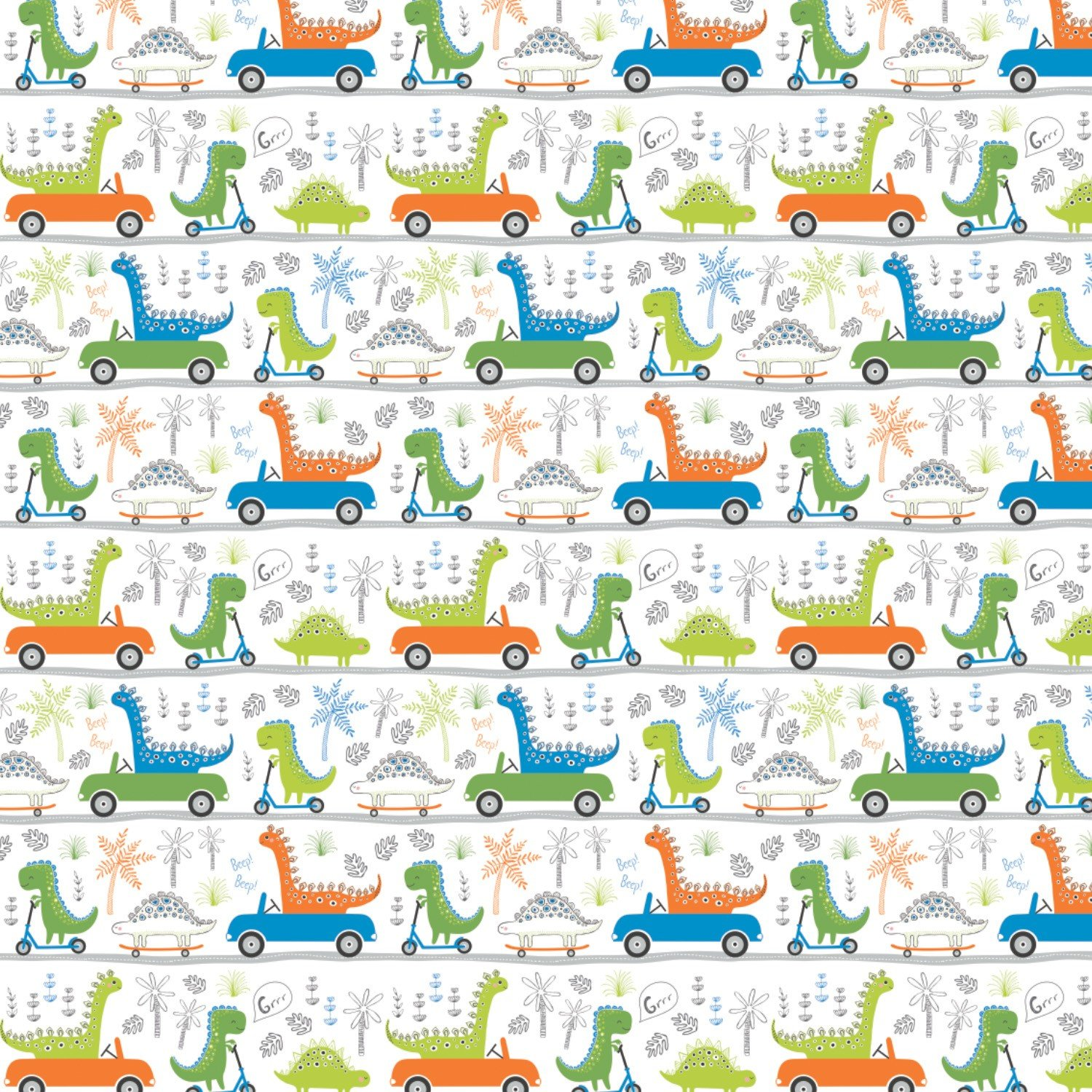 Roarsome Dinos on the Go Fabric