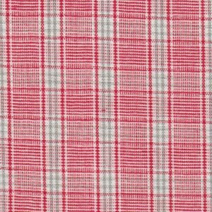 Red, Grey and White Plaid Fabric by Fabric Finders