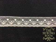 French Ecru Edging - Dot and Angel  3/4 Wide
