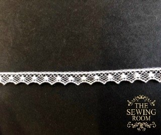 French White Edging - Dots and Points - 1/4 Wide