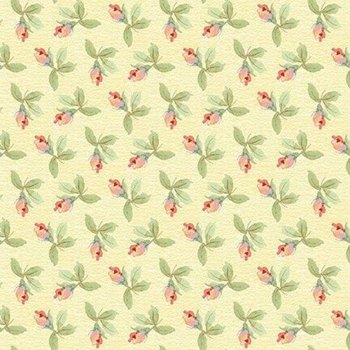 Garden Inspiration Tossed Rose Bud Multi Fabric