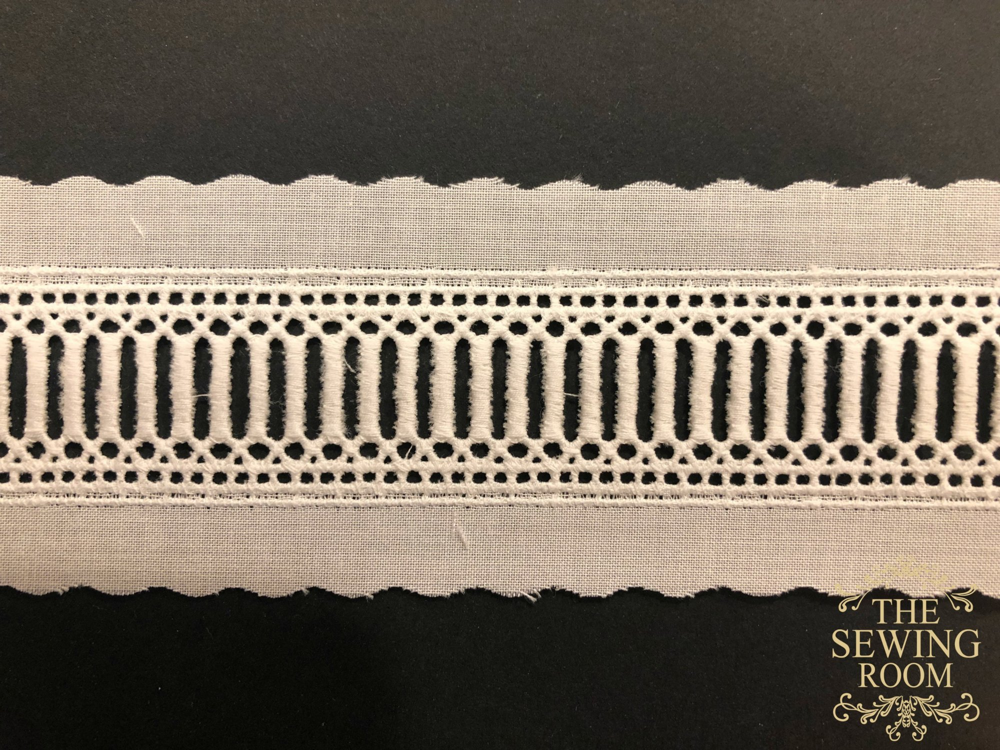 Swiss Ivory Entredeux with Beading - 7/8 Wide