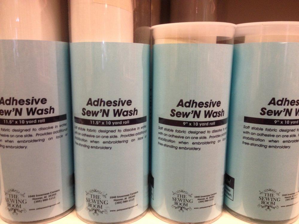 Adhesive Sew and Wash