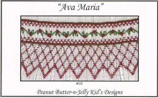 Ava Maria Smocking Plate by Peanut Butter and Jelly Kid's Designs