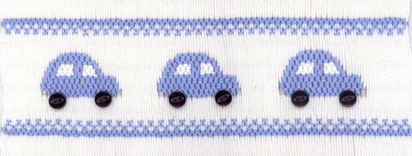 Baby's First Car Smocking Plate by Crosseyed Cricket