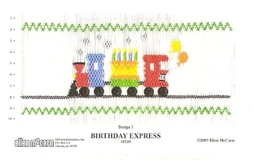 "NEW Smocking Plate /""Birthday Express/"" by Ellen McCarn"