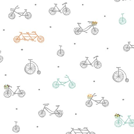 Scenic Route Bikes on White Fabric