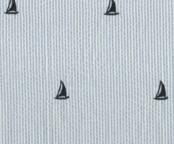 Seersucker Embrioderies Boats Blue Fabric by Robert Kaufman