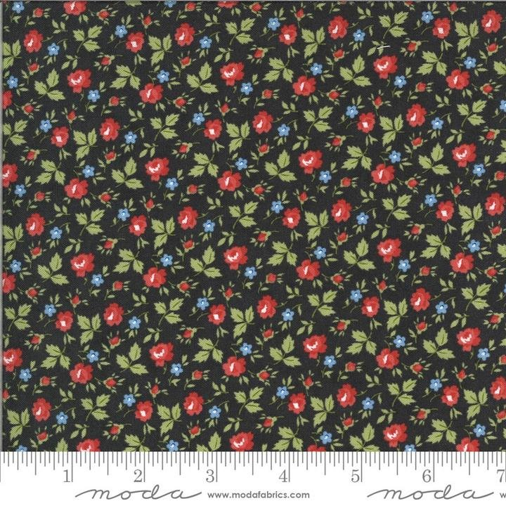 Harbor Springs Charcoal Floral Minkick & Simpson Fabric by Moda