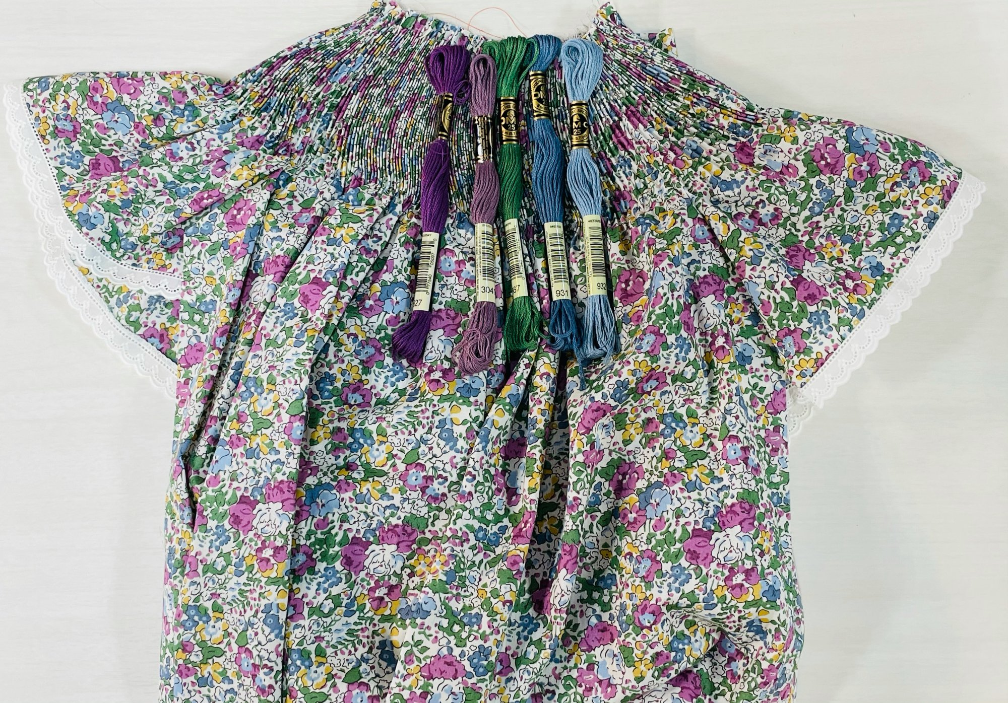 Bishop Kit - Claire Aude C Liberty of London Tana Lawn (Shown with Optional Lace Edging at Sleeves)
