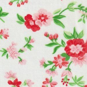 Red and Pink Floral Fabric by Fabric Finders