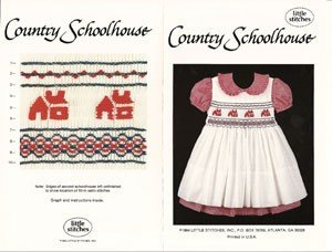 Country Schoolhouse Smocking Plate By Little Stitches