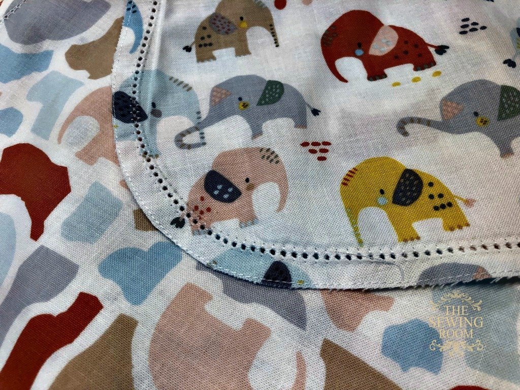 Hemstitched Baby Blanket and Burp Pads