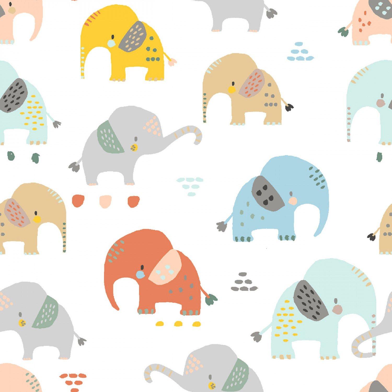 White Elephants Fabric by Dear Stella