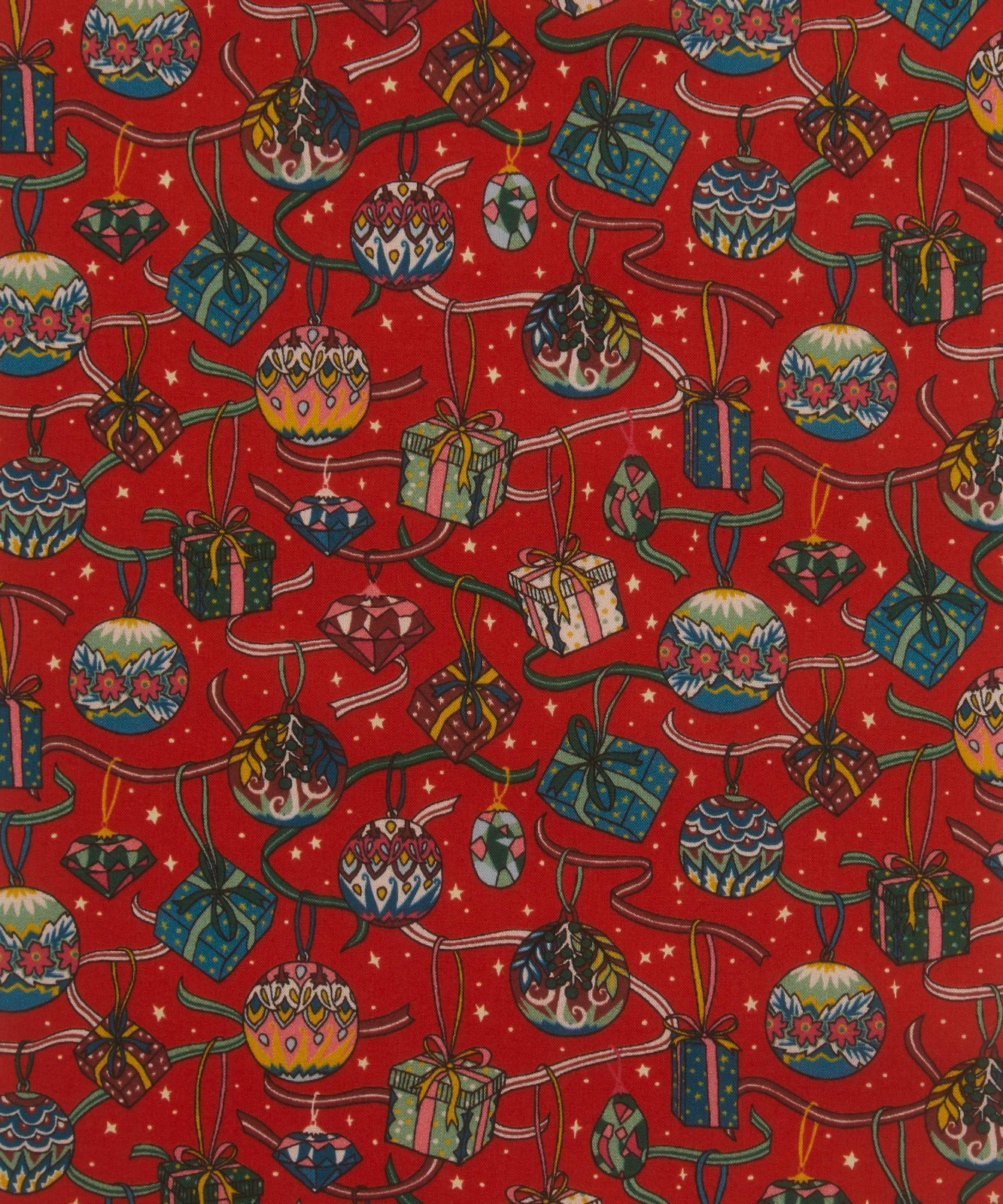 House of Gift C Red Tana Lawn Liberty of London Christmas