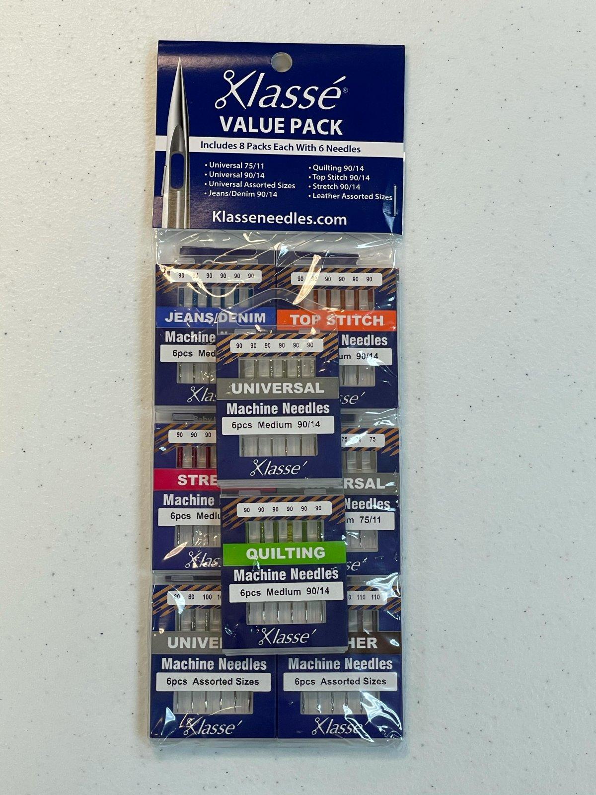 Klassee Machine Needles Value Pack