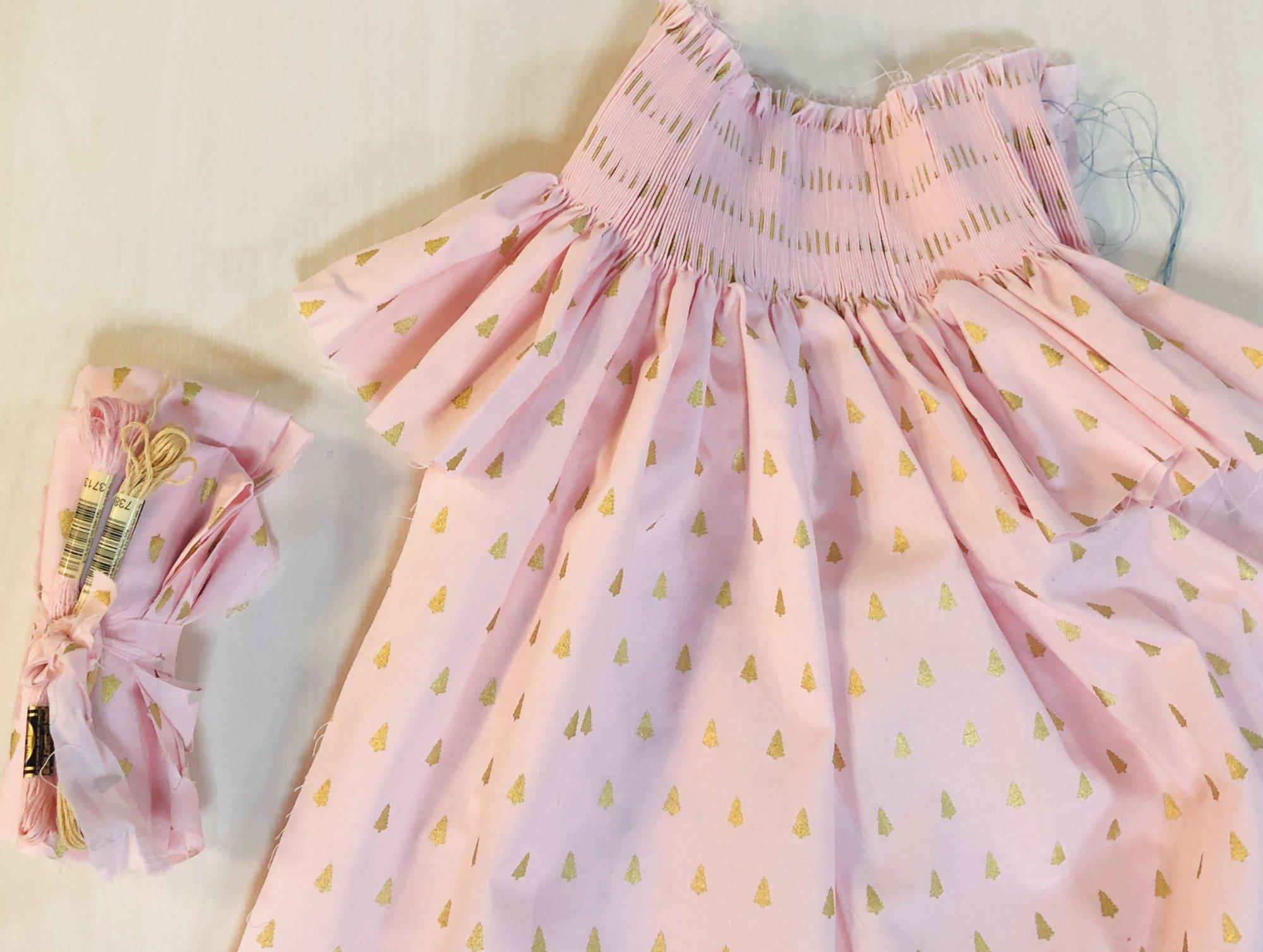 Bishop Kit Size 12 months - Santa Claus Lane Trees Pink Fabric by Riley Blake