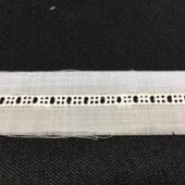 White Entredeux - Baby Beaded - 3/16 Wide