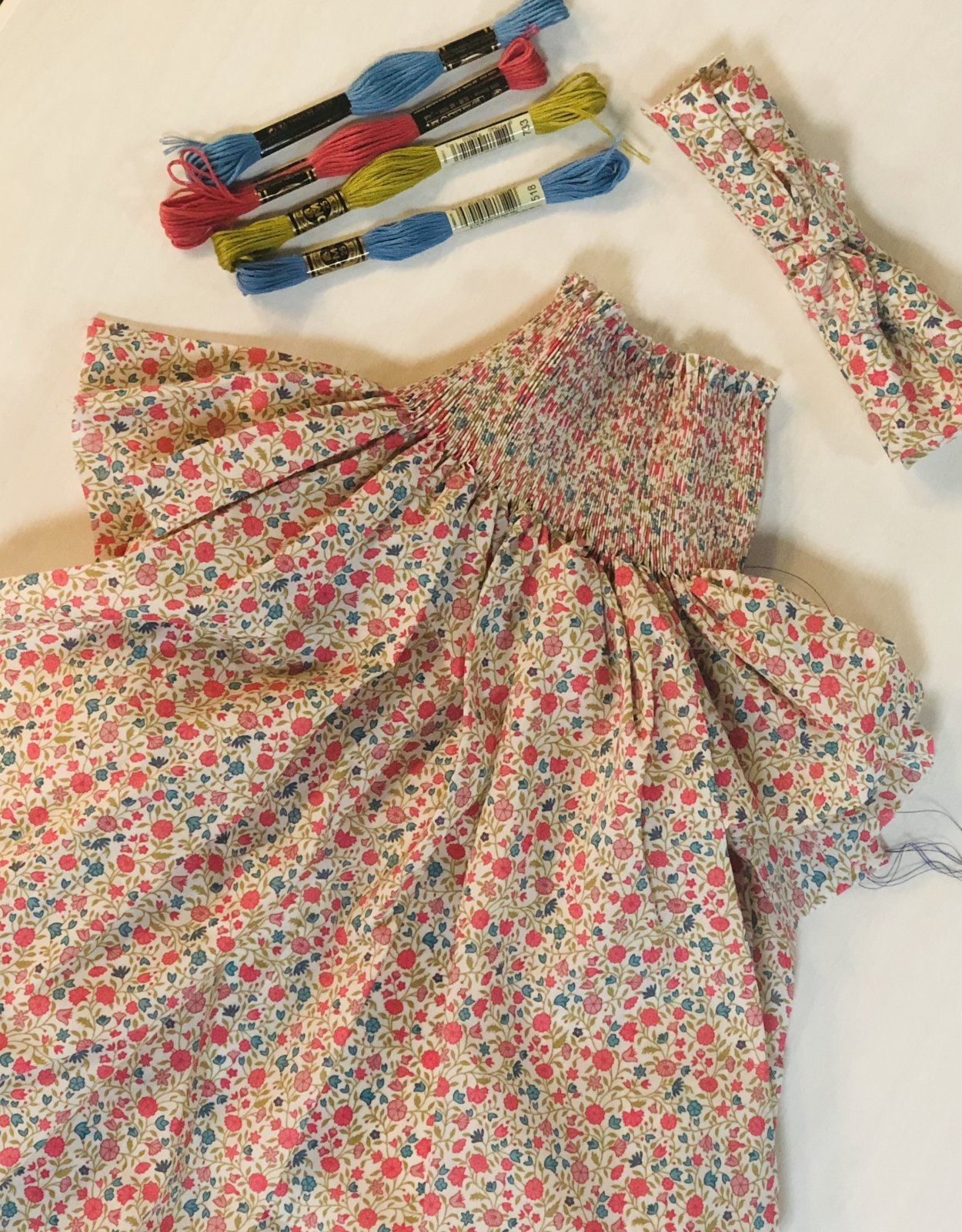 Bishop Kit Size 18 Month - Queen's Gallery Liberty of London Tana Lawn Floral Print Fabric