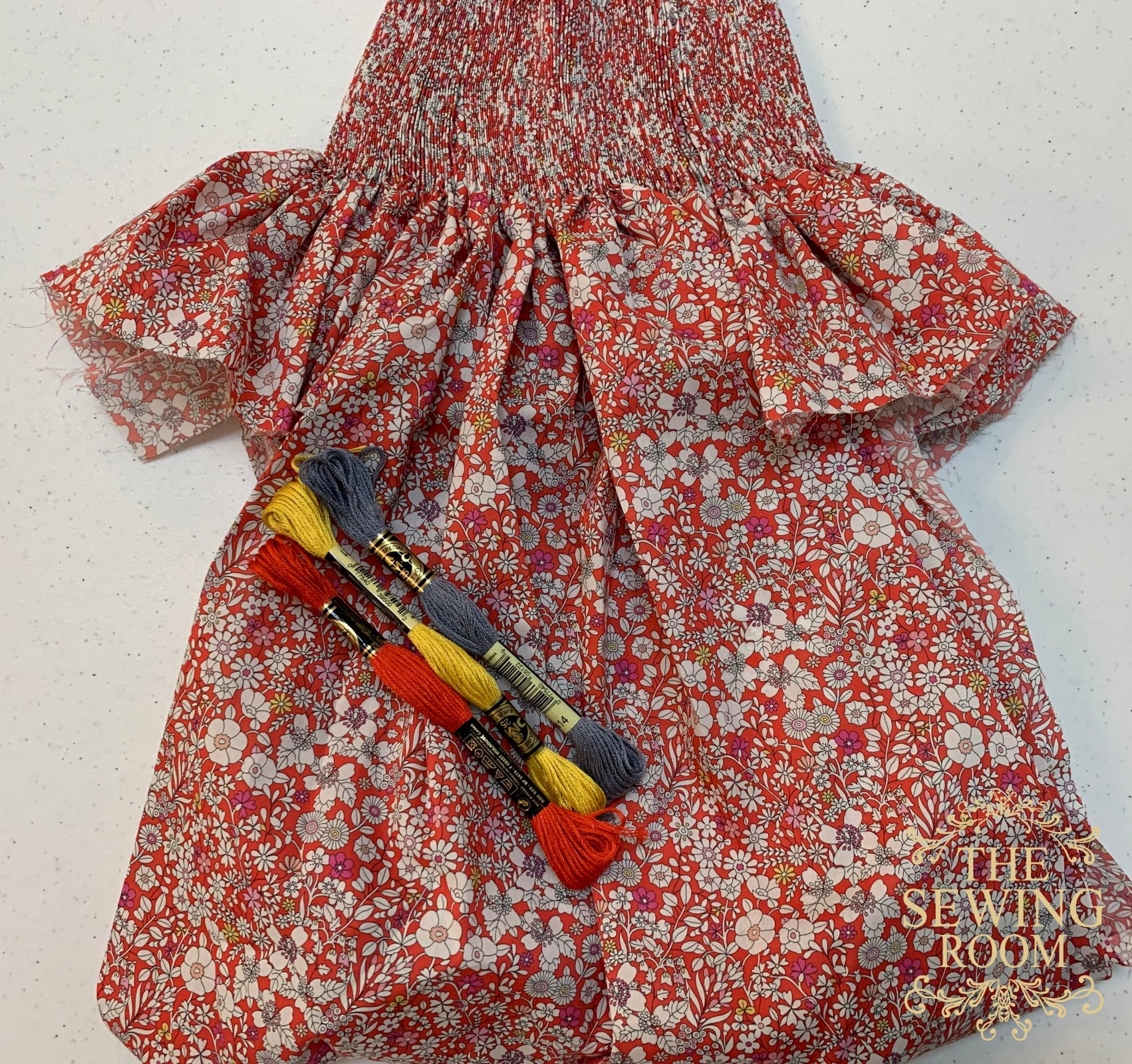 Ready to Smock Bishop w/o Construction - Liberty of London June's Meadow - Size 2T