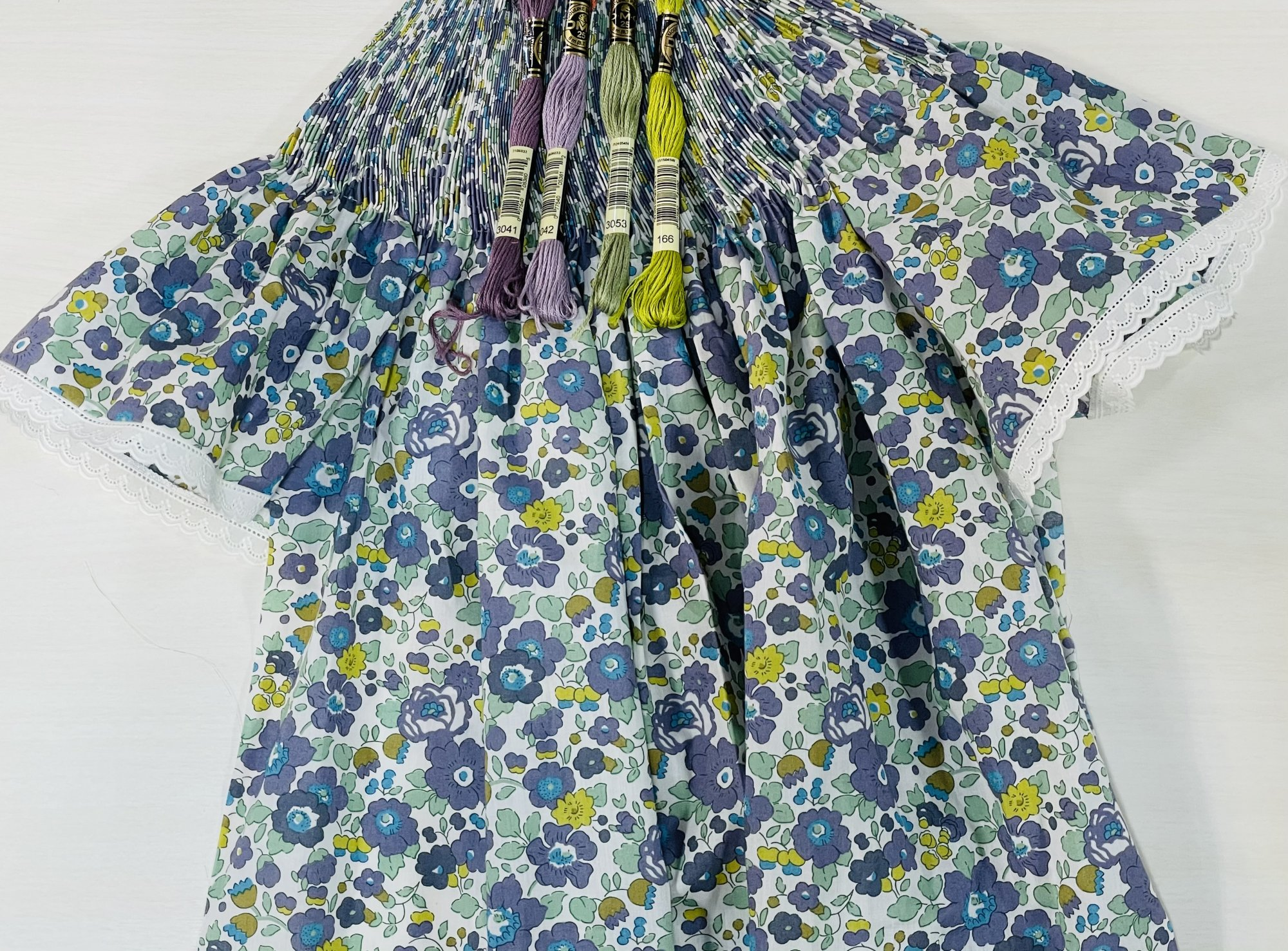 Bishop Kit - Betsy C Organic Liberty of London Tana Lawn (Shown with Optional Lace Edging at Sleeves)