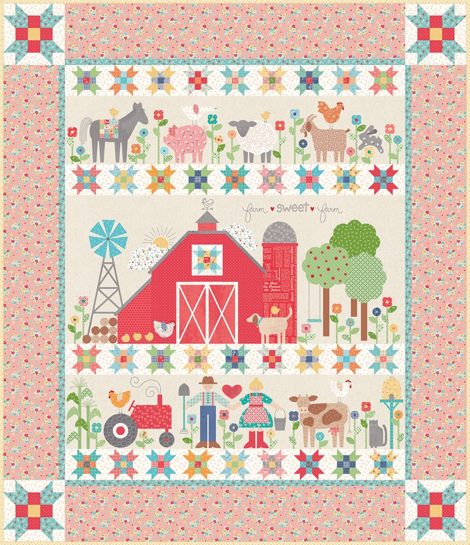 Farm Sweet Farm Quilt Kit by Lori Holt For Riley Blake