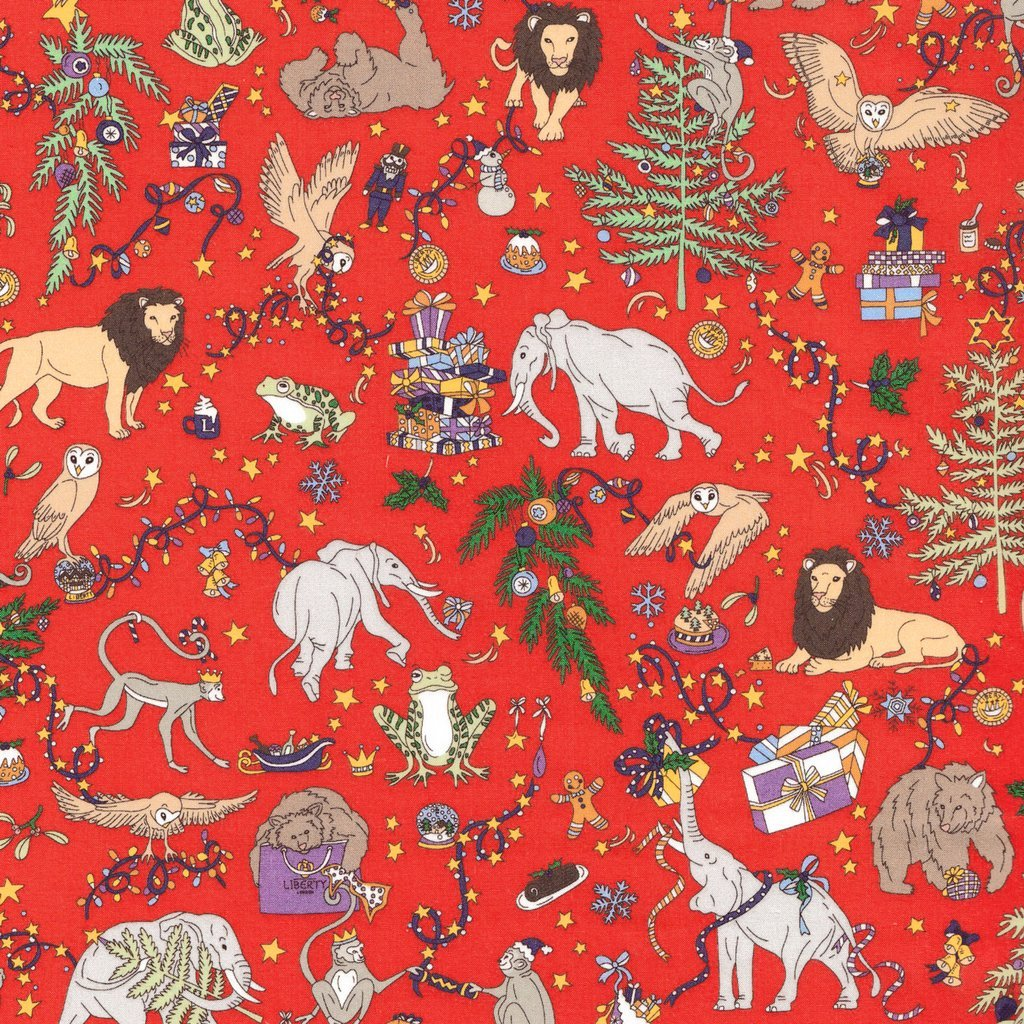 Christmas Liberty of London Tana Lawn Fabric Red