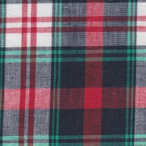 Madras Plaid Red and Green Fabric by Fabric Finders