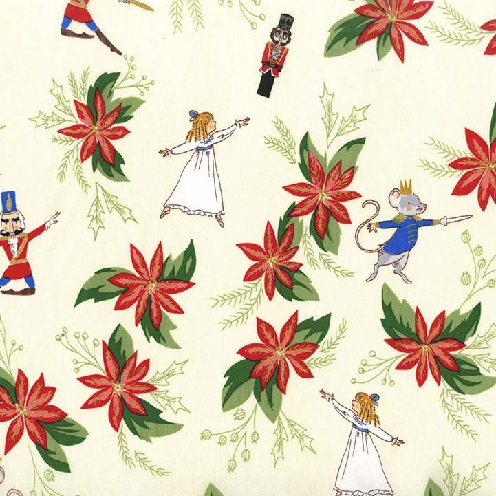 Nutcracker Floral Fabric by Michael Miller