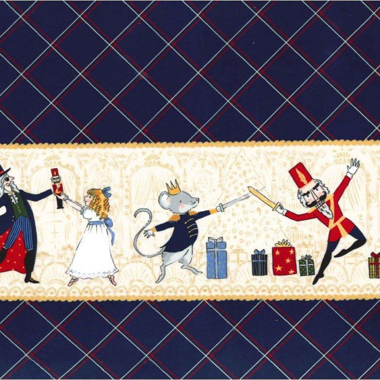 Nutcracker Act I Border on Minky Fabric by Michael Miller