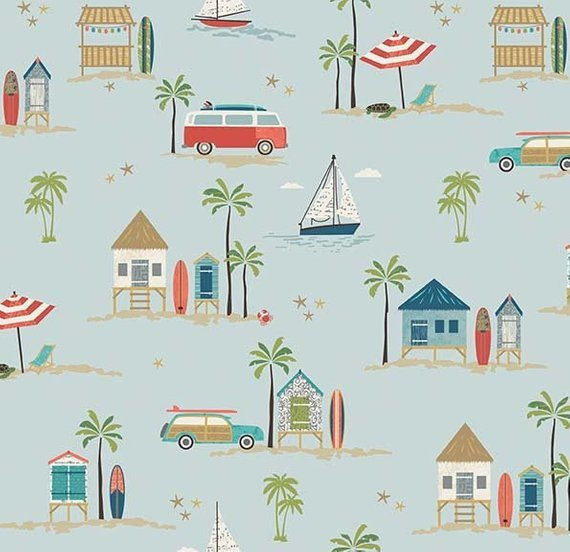 Off Shore 2 Main Blue Fabric by Riley Blake Designs