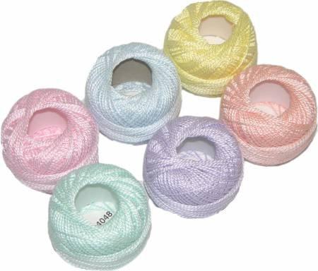 Pearl Cotton Pastel Sampler Size 8