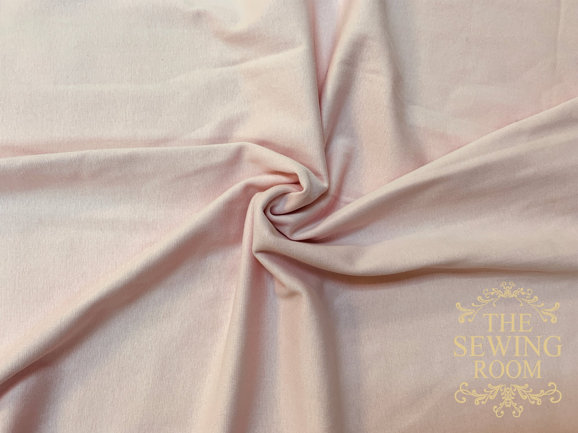 Pink Cotton Interlock Fabric by M and M Fabric