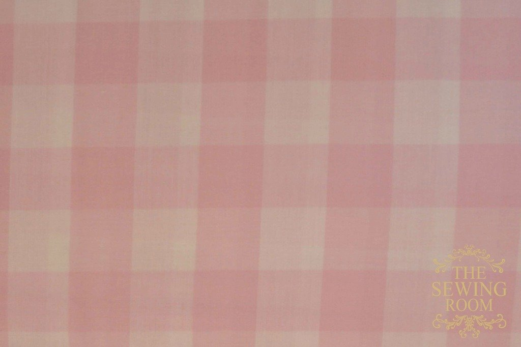 Light Pink and White Buffalo Gingham Check