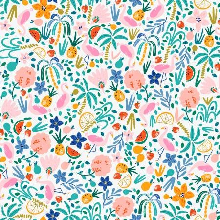 Multi Summer Toss Knit Fabric by Dear Stella
